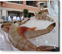Shrimp On Ice Acrylic Print