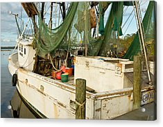 Shrimper Acrylic Print by Denis Lemay