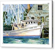 Shrimper Karen Jean Acrylic Print