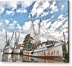 Shrimpers At Rest Acrylic Print