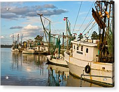 Shrimpers Cove Acrylic Print by Denis Lemay