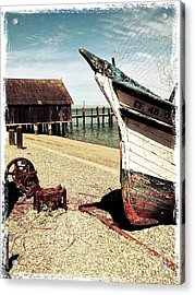 Shrimping Boat At China Camp Acrylic Print by Amy Fearn