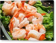 Shrimps On A Plate Acrylic Print