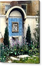 Shrine And Tulips Acrylic Print