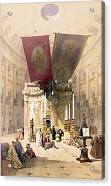 Shrine Of The Holy Sepulchre, April Acrylic Print by David Roberts