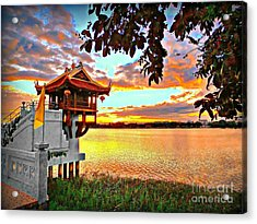 Shrine On The Lake. Acrylic Print