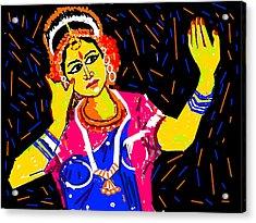 Shringara Rasa Acrylic Print by Anand Swaroop Manchiraju