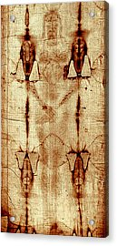 Acrylic Print featuring the digital art Shroud Of Turin by A Samuel