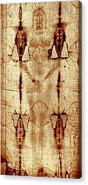 Shroud Of Turin Acrylic Print by A Samuel