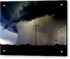 Acrylic Print featuring the photograph Shrouded Tornado by Ed Sweeney