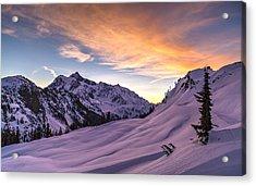 Shuksan Morning Skies Acrylic Print by Mike Reid