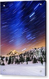Shuksan Star Trails Acrylic Print by Alexis Birkill