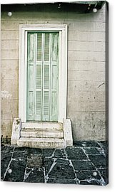 Shuttered Doors Acrylic Print by Heather Green