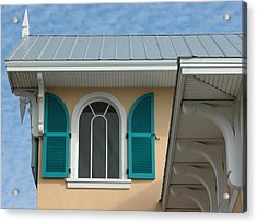Shuttered Window Acrylic Print by Valerie Paterson
