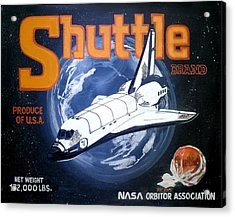 Shuttle Brand Acrylic Print by Ric Rice