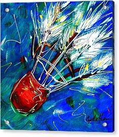 Shuttlecock Ll Acrylic Print by Cynthia Hudson