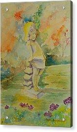 Shy Garden Angel Acrylic Print