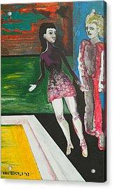 Shy Guy Dance Floor Acrylic Print by Eric Beverly