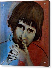 Acrylic Print featuring the painting Shy by Irena Mohr