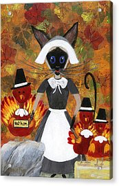 Siamese Queen Of Thanksgiving Acrylic Print by Jamie Frier