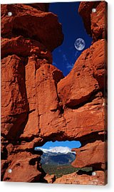 Siamese Twins Rock Formation At Garden Of The Gods Acrylic Print by John Hoffman