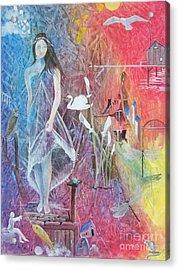 Sian Nia Acrylic Print by Jackie Mueller-Jones