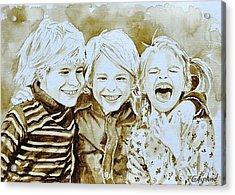 Siblings Fun Acrylic Print
