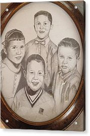 Siblings Acrylic Print by Sharon Schultz
