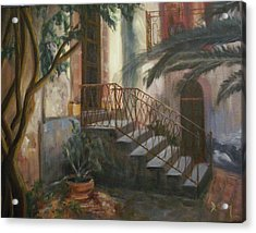 Acrylic Print featuring the painting Sicilian Nunnery by Donna Tuten