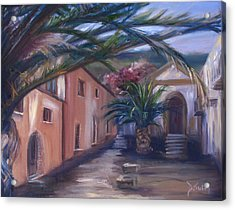 Acrylic Print featuring the painting Sicilian Nunnery II by Donna Tuten