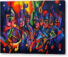 Acrylic Print featuring the painting Sicilian Puppets II by Georg Douglas