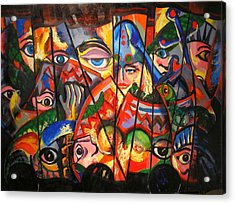 Acrylic Print featuring the painting Sicilian Puppets IIi by Georg Douglas