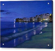 Sicilian Sunset Acrylic Print by Cecilia Brendel