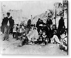 Sicily Refugees, C1909 Acrylic Print by Granger