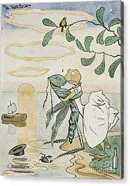 Sick Love Acrylic Print by Theodor Kittelsen