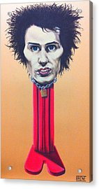 Sid Vicious Acrylic Print by Brent Andrew Doty