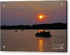 Side Lake Mn Sunset  Acrylic Print