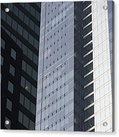 Side Of An Office Towers With Glass Acrylic Print by Keith Levit