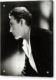 John Barrymore In Profile Acrylic Print by Adolphe De Meyer