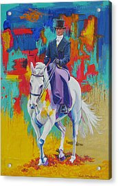 Side Saddle Contemporary Acrylic Print by Tomas OMaoldomhnaigh