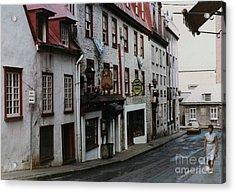 Side Street Cafe Acrylic Print by Cedric Hampton