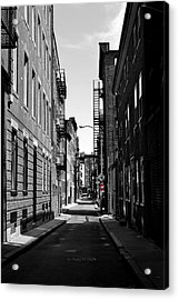Side Street On The North End Acrylic Print by Nadalyn Larsen