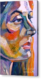 Sideview Of A Woman Acrylic Print by Stan Esson