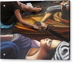 Sidewalk Art 3 Acrylic Print by Bob Christopher