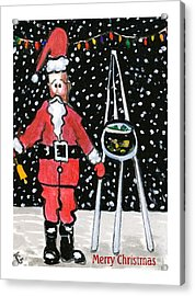 Sidewalk Santa.card Acrylic Print