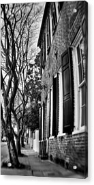 Sidewalk Scene-charleston Acrylic Print by Andrew Crispi