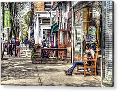 Sidewalk Scene - Great Barrington Acrylic Print