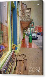 Sidewalk Shot Weston Missouri Acrylic Print by Liane Wright