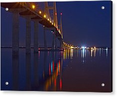 Sidney Lanier At Night Acrylic Print