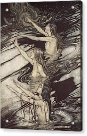 Siegfried Siegfried Our Warning Is True Flee Oh Flee From The Curse Acrylic Print by Arthur Rackham